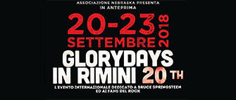 Glory Days 2018: tributo Bruce Springsteen a Rimini